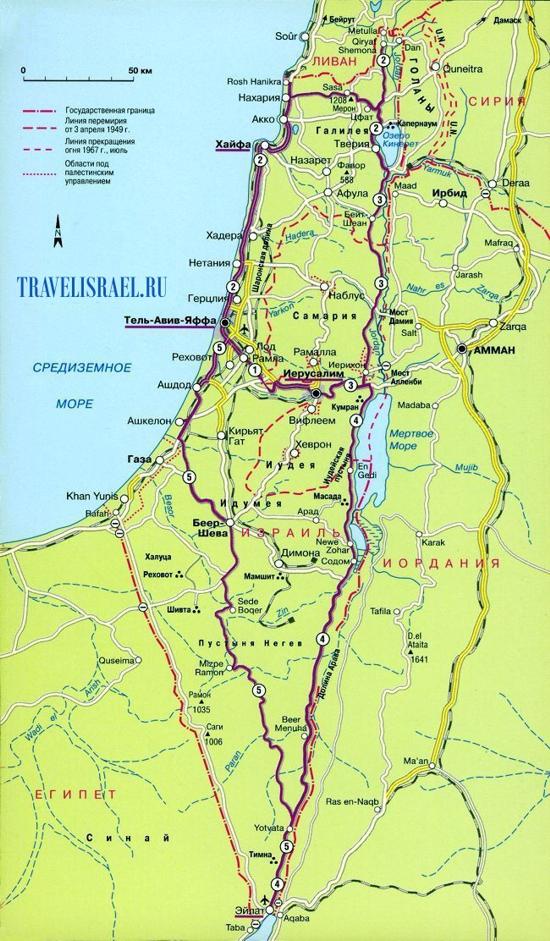 Израиль карта израиля